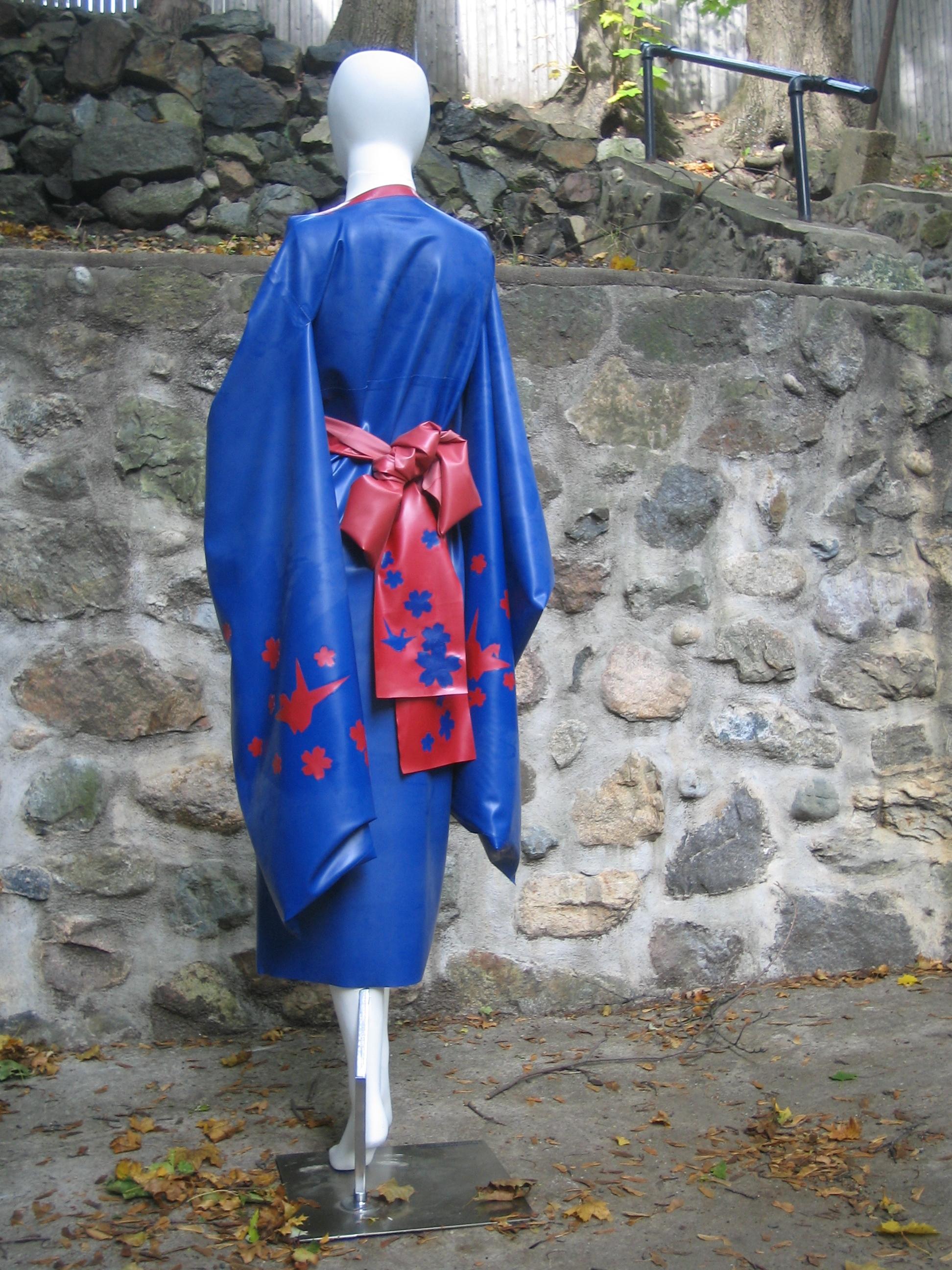 Long Kimono with Cherry Blossoms