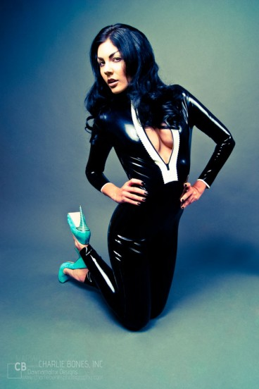 Dawnamatrix Latex Clothing Shop Catsuits and Bodysuits Decolletage