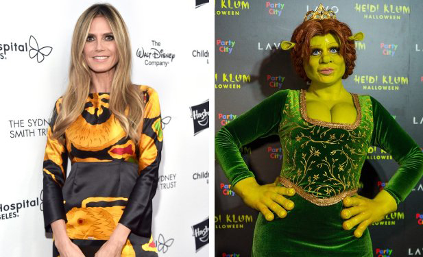 Halloween Costume Marvel: Heidi Klum As Princess Fiona