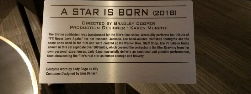 star is born plaque