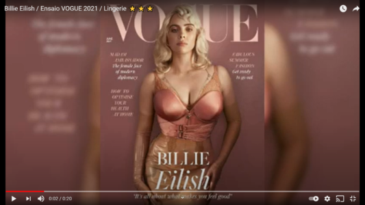 Billie Eilish Rocking Lingerie, Latex and Body Positivity in British Vogue