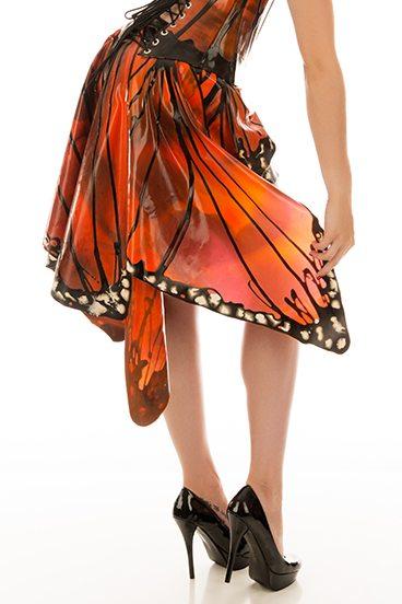 Butterfly Skirt Dawnamatrix Latex Clothing