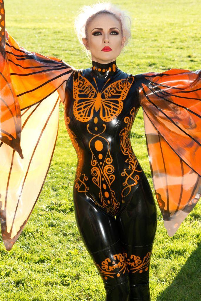butterfly catsuit � dawnamatrix latex clothing
