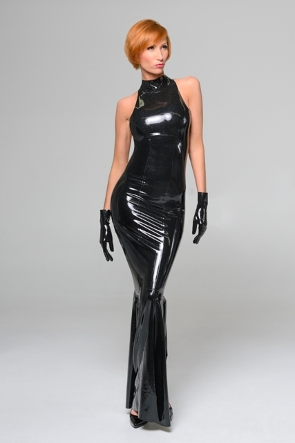 Basic mermaid gown dawnamatrix latex clothing