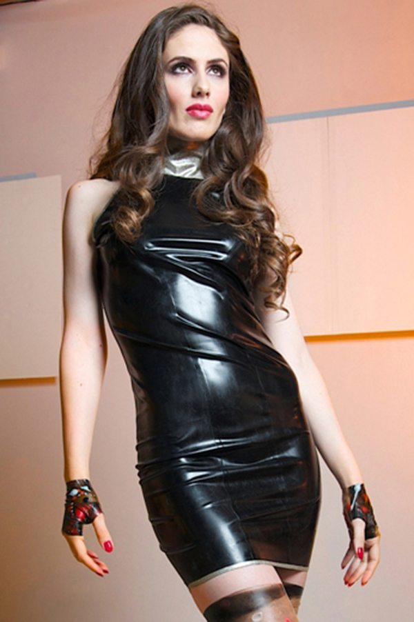 Glitter Collar Dress Dawnamatrix Latex Clothing