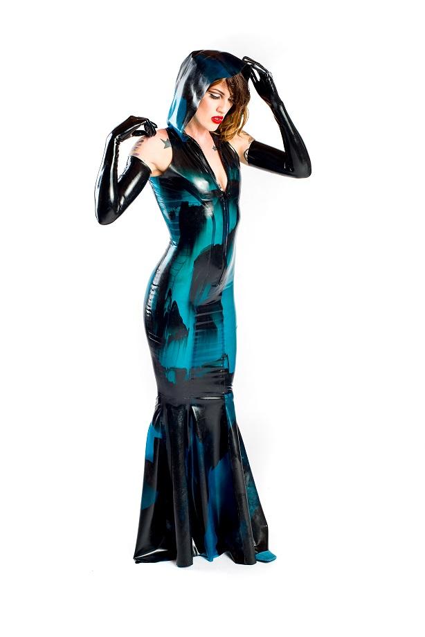 Hooded Mermaid Gown – Dawnamatrix Latex Clothing