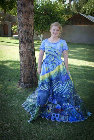 Art In America: Julia Reidhead's 'Starry Night' Prom Dress