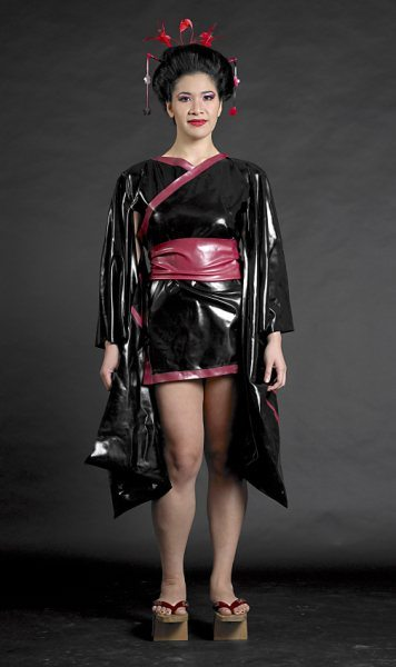 Kanji Kimono Dawnamatrix Latex Clothing