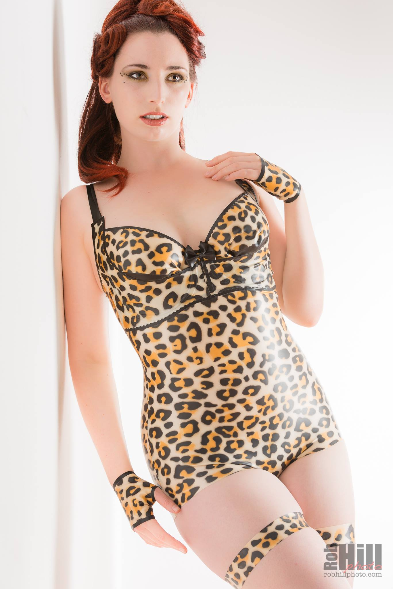 The Ever Popular Leopard Print Latex Dawnamatrix Clothing Lingerie High Waisted Panty Girdle