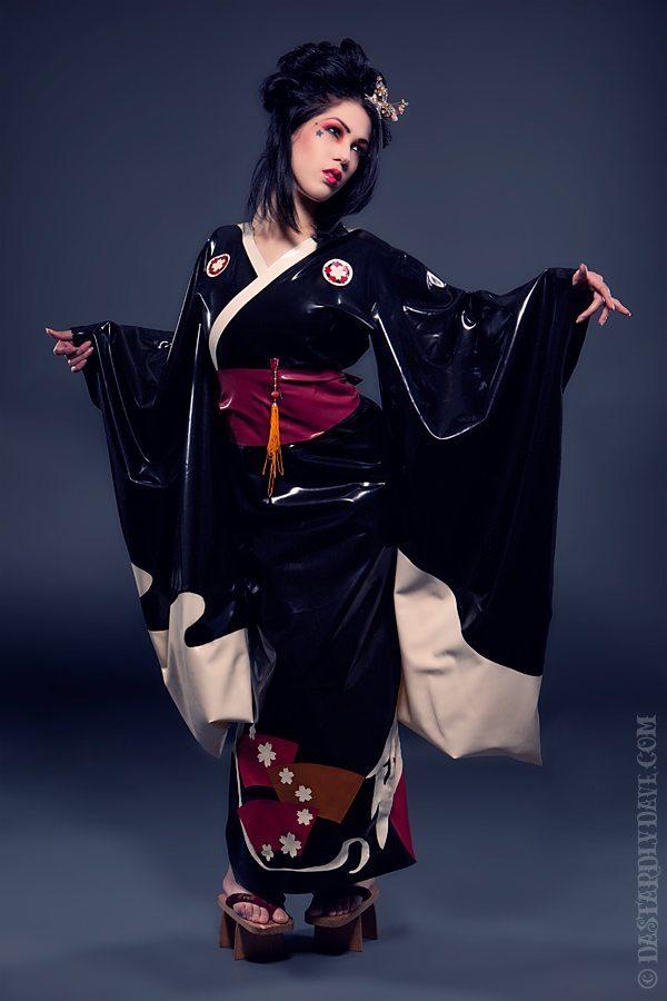 Crane Latex Kimono