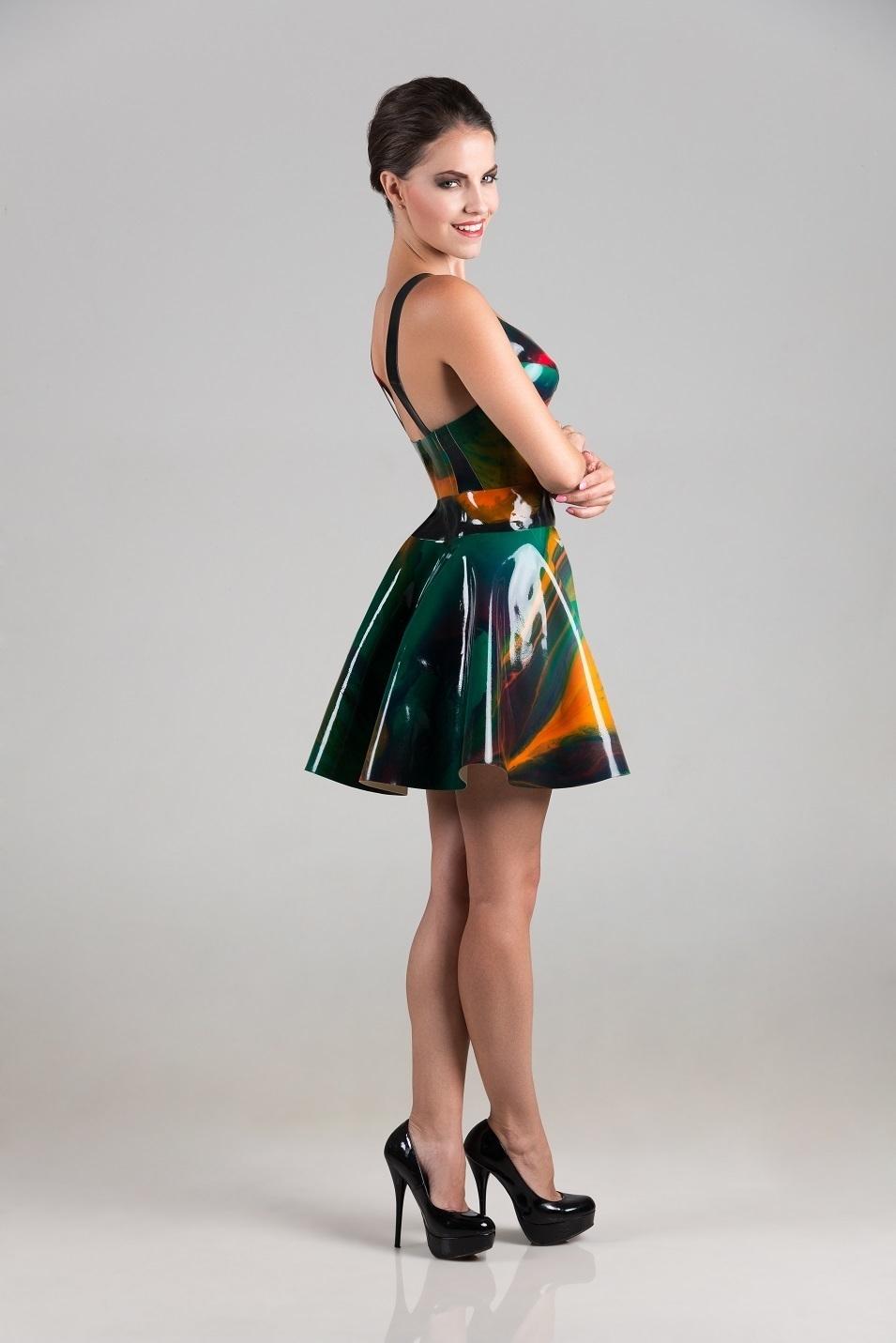 Marble Skater Dress – Dawnamatrix Latex Clothing 4c085d82f