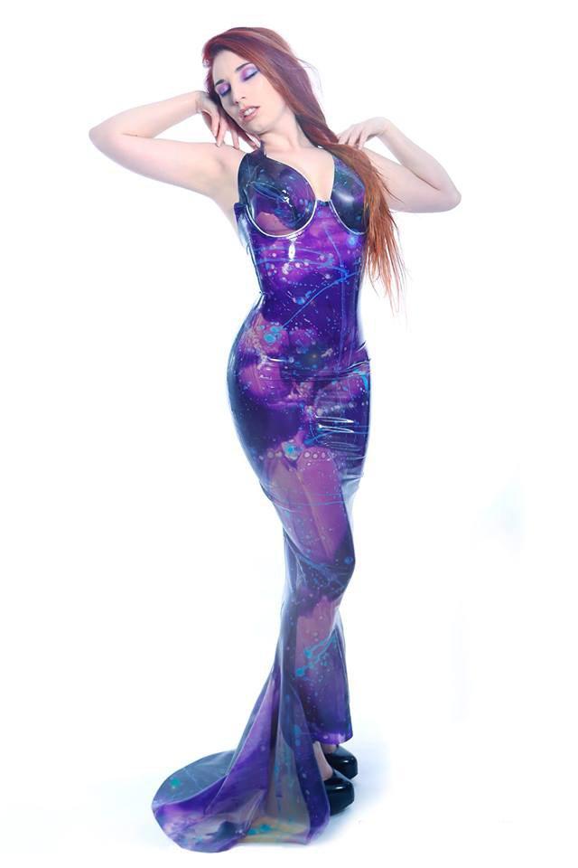 Marbled Underwire Gown Dawnamatrix Latex Clothing