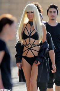 Paris-Hilton-Filming-Music-Video-Bikini-2014-Pictures