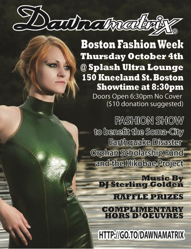 fashion show flier