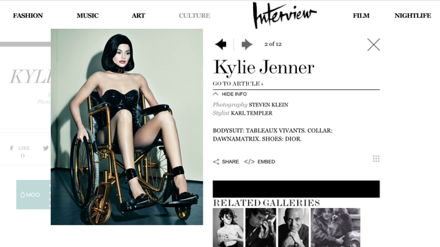 Controversy, Celebrity and a Wheelchair; Kylie Jenner's Interview Magazine Photos, Part 2.