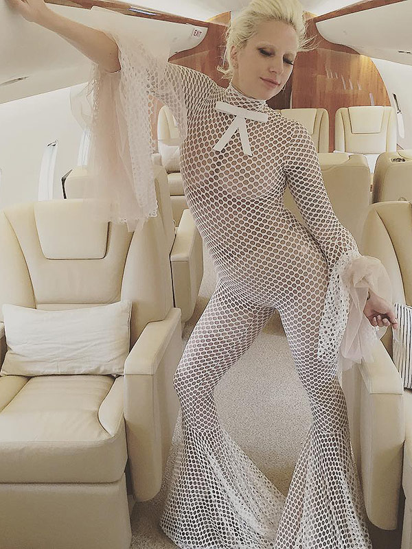 American Horror Story and Fishnets on a Plane: Lady Gaga Is At Us Again