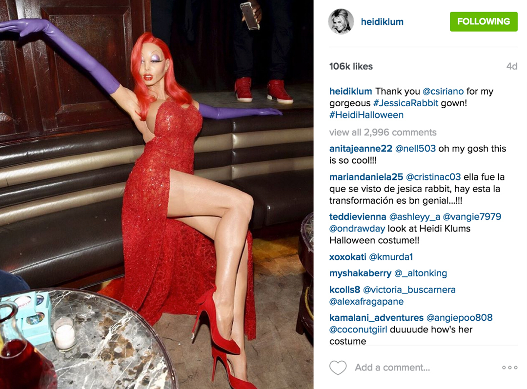 Jessica Rabbit Is Alive And Well…Thanks to Heidi Klum